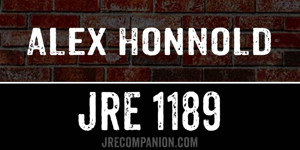 Alex Honnold / JRE 1189